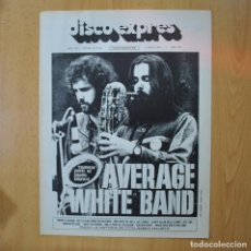 Revistas de música: DISCO EXPRES - AVERAGE WHITE BAND / POCO - REVISTA. Lote 233286880
