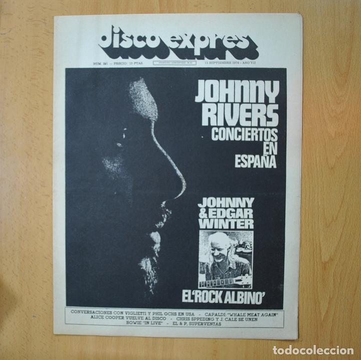 DISCO EXPRES - JOHNNY RIVERS / JOHNNY & EDGAR WINTER EL ROCK ALBINO - REVISTA (Música - Revistas, Manuales y Cursos)