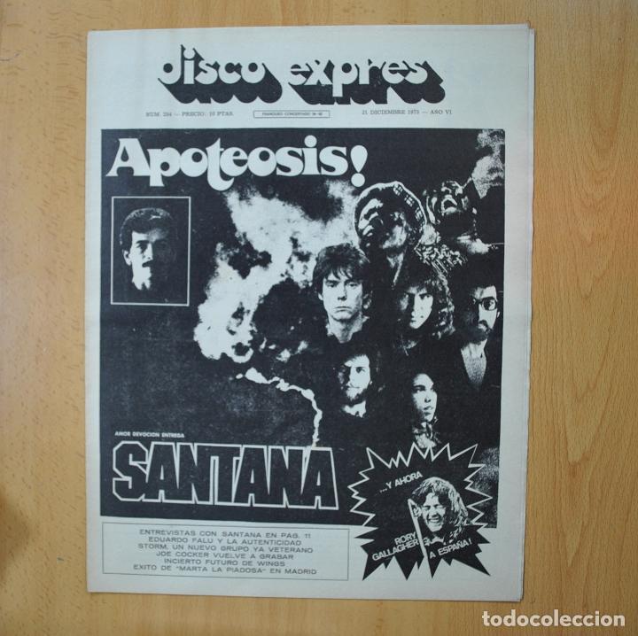 DISCO EXPRES - APOTEOSIS SANTANA - REVISTA (Música - Revistas, Manuales y Cursos)