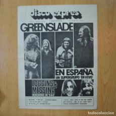 Revistas de música: DISCO EXPRES - GREENSLADE / LOGGINS & MESSINA - REVISTA. Lote 233287665