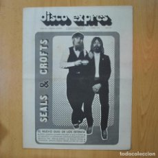 Revistas de música: DISCO EXPRES - SEALS & CROFTS - REVISTA. Lote 233287685