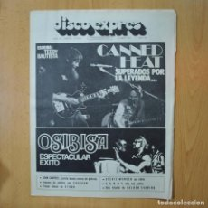 Revistas de música: DISCO EXPRES - CANNED HEAT / OSIBISA - REVISTA. Lote 233287700
