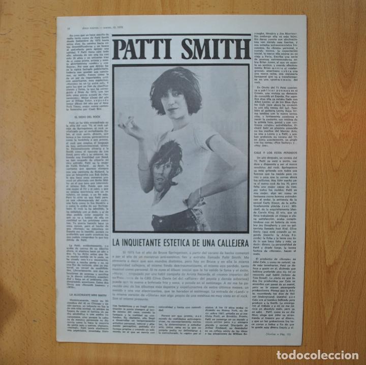 Revistas de música: DISCO EXPRES - PATTI SMITH / LEON RUSSELL / MERCEDES SOSA - REVISTA - Foto 2 - 233287825