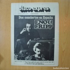 Revistas de música: DISCO EXPRES - ENO & FRIPP - REVISTA. Lote 233287850