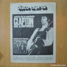 Revistas de música: DISCO EXPRES - CRONICA DE SU CONCIERTO CLAPTON EN LONDRES - REVISTA. Lote 233287930