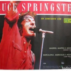 Revistas de música: BRUCE SPRINGSTEEN. HISTÓRICO CARTEL ORIGINAL TOUR 88. VICENTE CALDERÓN (MAD) Y CAMP NOU (BCN).. Lote 234301195