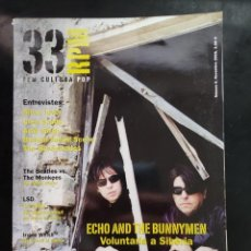 Riviste di musica: 33 RPM Nº 6 ECHO AND THE BUNNYMEN, SILVER JEWS, BEATLES, LSD, IRVINE WEISH, SCOTT WALKER 2005. Lote 234508870