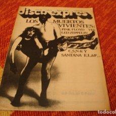 Riviste di musica: REVISTA DISCO EXPRES Nº 443 ALICE COOPER PUNK SUPERTRAMP KIM FOWLEY LED ZEPPELIN 1977. Lote 234885205