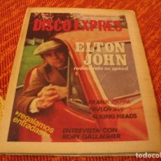 Riviste di musica: REVISTA DISCO EXPRES Nº 497 ELTON JOHN PAVLOVSKI RORY GALLAGHER TALKING HEADS ZAPPA THE CARS 1979. Lote 234887520