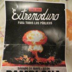 Revistas de música: EXTREMODURO: POSTER CONCIERTO PAMPLONA (GIRA 2014). Lote 234925070