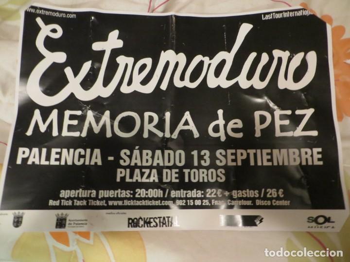EXTREMODURO + MEMORIA DE PEZ : POSTER CONCIERTO PALENCIA (GIRA 2008) (Música - Revistas, Manuales y Cursos)