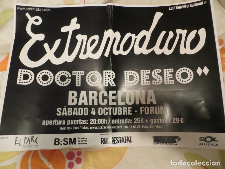 EXTREMODURO + DOCTOR DESEO : POSTER CONCIERTO BARCELONA (GIRA 2008) (Música - Revistas, Manuales y Cursos)