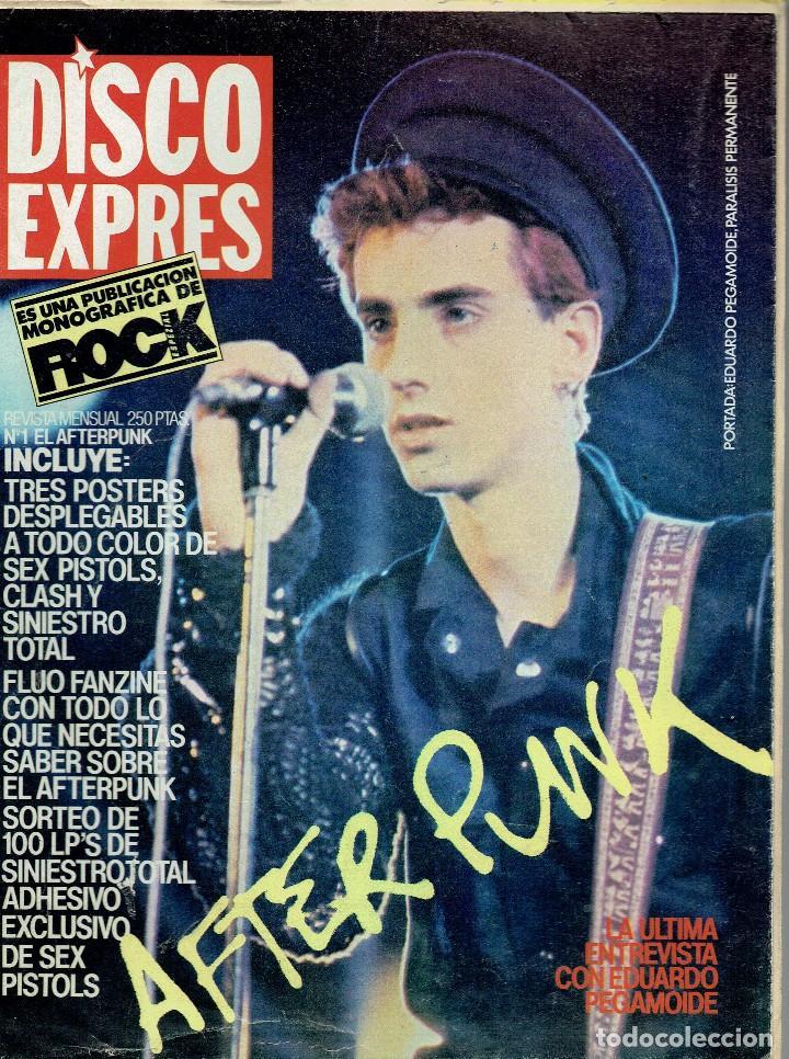 DISCO EXPRES ESPECIAL AFTER PUNK 1983 @ EDICION COMPLETA PORTADA POSTERS Y ADHESIVO /PISTOLS CLASH (Música - Revistas, Manuales y Cursos)