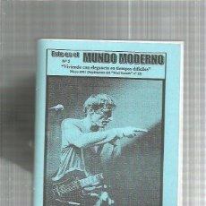 Revistas de música: ESTE ES EL MUNDO MODERNO 2 (CULTURA MOD) + SAMPLER CASERO DE REGALO. Lote 235040715