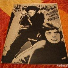 Riviste di musica: REVISTA DISCO EXPRES Nº 448 PUNK MINK DEVILLE VADE RETRO GIRBOLA D´ALBA A STIVELL PINK FLOYD 1977. Lote 235088315