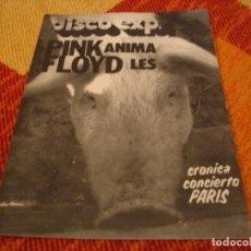 Riviste di musica: REVISTA DISCO EXPRES Nº 416 PINK FLOYD SABATES FLEETWOOD MAC JACO PASTORIUS PAN & REGALIZ 1977. Lote 235088875