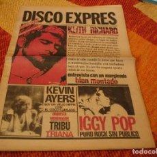 Riviste di musica: REVISTA DISCO EXPRES Nº 477 KEITH RICHARDS KEVIN AYERS IGGY POP TRIBU ORQUESTA MONDRAGON 1978. Lote 235090245