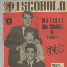 Revistas de música: DISCOBOLO (PROCEDE DE ENCUADERNACION ) 48 MARISOL DUO DINAMICO. Lote 235425360