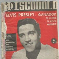 Revistas de música: DISCOBOLO (PROCEDE DE ENCUADERNACION ) 43 ELVIS PRESLEY MAS REGALO SORPRESA. Lote 235427205