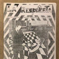 Revistas de música: LA RESPUESTA N° 6 (SAN SEBASTIÁN 1996). HISTÓRICO FANZINE ORIGINAL; MODZINE (LOS NEGATIVOS,.... Lote 236200960