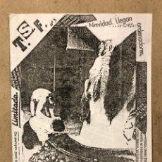 Revistas de música: T.S.F. TROPAS SIN FUTURO N° 3 (MADRID 1983). HISTÓRICO FANZINE ORIGINAL; ADELANTO DEL N° 3.. Lote 236208845
