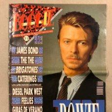 Revistas de música: BOOGIE N° 19 (1989). DAVID BOWIE, BRIGATONES, THE THE, TIN MACHINE, LOS BICHOS, LA TRAMPA,.... Lote 236230420