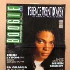 Revistas de música: BOOGIE N° 21 (1989). DINARAMA, DECIBELIOS, DUNCAN DHU, LA GRANJA, JOHN LYDON, TERENCE TRENT. Lote 236231280