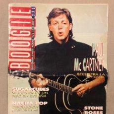 Revistas de música: BOOGIE N° 23 (1989). PAUL MCCARTNEY, NACHA POP, PRESUNTOS IMPLICADOS, SUGARCUBES. Lote 236233000
