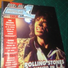 Revistas de música: ROCK N ROLL POPULAR 1. Nº 255. ROLLING STONES.LOQUILLO.THE CRAMPS.SUEDE.MICHAEL MONROE.GREEN DAY.. Lote 236271530