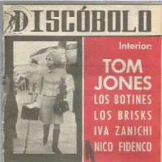 Riviste di musica: DISCOBOLO (PROCEDE DE ENCUADERNACION Y PARTE SUPERIOR ALGO GUILLOTINADO) 89 TOM JONES. Lote 236508935