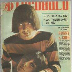 Riviste di musica: DISCOBOLO (PROCEDE DE ENCUADERNACION Y PARTE SUPERIOR ALGO GUILLOTINADO) 90 SONNY CHER. Lote 236509305