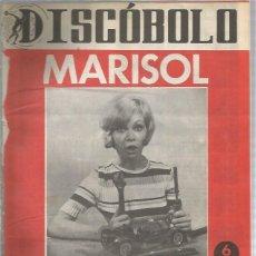 Revistas de música: DISCOBOLO 85 (PROCEDE DE ENCUADERNACION Y PARTE SUPERIOR ALGO GUILLOTINADO) MARISOL. Lote 236510370