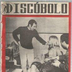 Riviste di musica: DISCOBOLO 74 (PROCEDE DE ENCUADERNACION Y PARTE SUPERIOR ALGO GUILLOTINADO) AZNAVOUR. Lote 236514850