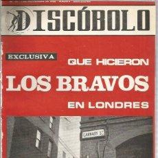 Riviste di musica: DISCOBOLO 111 (PROCEDE DE ENCUADERNACION Y PARTE SUPERIOR ALGO GUILLOTINADO) BRAVOS. Lote 236519650