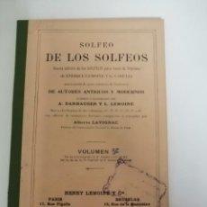 Revistas de música: SOLFEO DE LOS SOLFEOS VOLUMEN 5. Lote 236950120