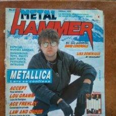 Revistas de música: METAL HAMMER NUM 27. METALLICA ACCEPT LOU GRAMM SOUNDGARDEN ACE FREHLEY. Lote 237272780