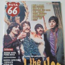 Revistas de música: RUTA 66 - Nº 140 - THE BEATLES - ROBERT PLANT Y JIMMY PAGE - CASI NUEVA.. Lote 237482265