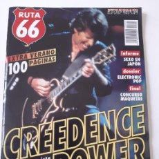 Revistas de música: RUTA 66 - Nº 141 - CREEDENCE CLEARWATER REVIVAL- JOHN FOGERTY- SONIC YOUTH- LOU REED- - CASI NUEVA.. Lote 237482735