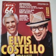 Revistas de música: RUTA 66 - Nº 144 - ELVIS COSTELLO- LOU REED - CASI NUEVA.. Lote 237483285