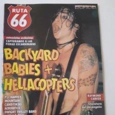 Revistas de música: RUTA 66 - Nº 145 - BACKYARD BABIES- HELLACOPTERS - P.J. HARVEY - CASI NUEVA.. Lote 237483635