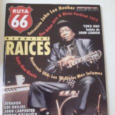 Revistas de música: RUTA 66 - Nº 148 - JOHN LEE HOOKER- YOKO ONO- JOHN LENNON - CASI NUEVA.. Lote 237485335
