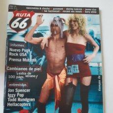 Revistas de música: RUTA 66 - Nº 152 - JOHN SPENCER - IGGY POP - TODD RUNDGREN - CASI NUEVA.. Lote 237486735