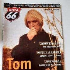 Revistas de música: RUTA 66 - Nº 153 - TOM PETTY - JOHN LENNON Y HARRY NILSSON - BRIAN WILSON - CASI NUEVA.. Lote 237490645