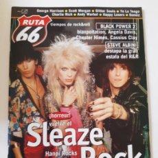 Revistas de música: RUTA 66 - Nº 158 - HANOI ROCKS - MÖTLEY CRÜE - POISON - TWISTED SISTER - CASI NUEVA.. Lote 237491055