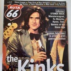 Revistas de música: RUTA 66 - Nº 159 - THE KINKS - RORY GALLAGUER - - CASI NUEVA.. Lote 237491355