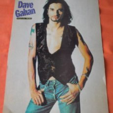 Revistas de música: DEPECHE MODE (DAVE GAHAN) POSTER REVISTA POPCORN. Lote 237494680