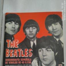 Revistas de música: THE BEATLES DISCOGRAFIA ESPAÑOLA DE VINILOS DE 45 RPM LIBRO 1999 JAVIER TARAZONA CATALOGO 32 PAGINAS. Lote 238246740