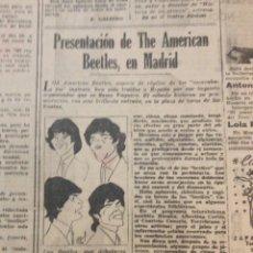 Revistas de música: THE AMERICAN BEETLES EN MADRID - REF. BEATLES - DIGAME NUM. 1290. Lote 239897215