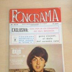 Magazines de musique: BEATLES - FONORAMA NUM. 18-19. Lote 239900890