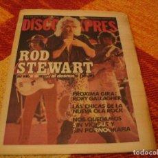 Riviste di musica: REVISTA DISCO EXPRES Nº 496 RORY GALLAGHER SYD VICIOUS TELEVISON ICEBERG SEX PISTOLS RAMONES 1979. Lote 240019360